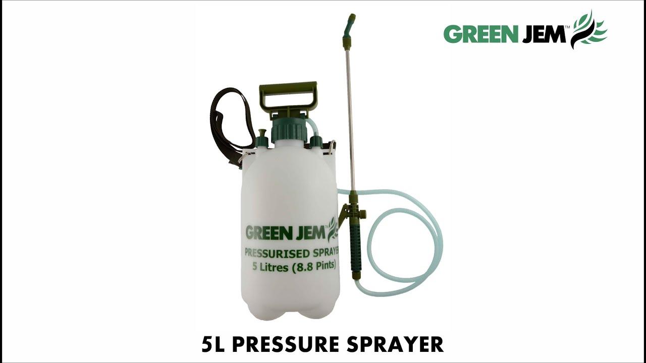 Green Jem 5 Litre Pressure Sprayer Gs500s Youtube