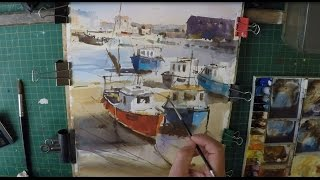 How To Paint Fishing Boats In Watercolour Loose Painting Technique