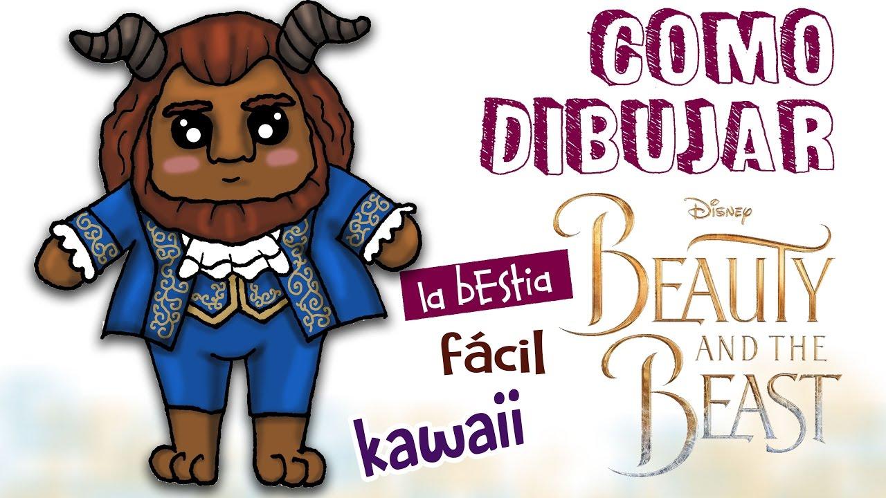 Como Dibujar La Bestia Kawaii / Dibujo Facil Para Niños