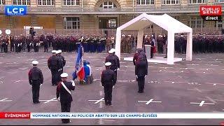 Hommage national au policier tué sur les Champs-Elysées - Evénement (25/04/2017)
