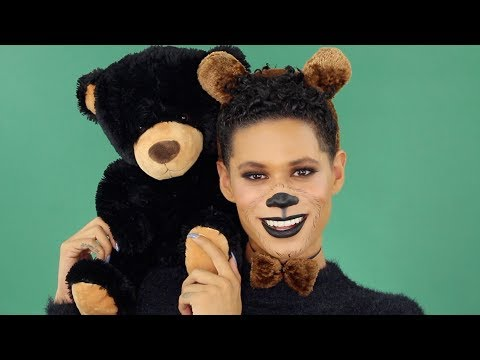 Teddy Bear Halloween Makeup Tutorial ft. Moschino x Sephora Palette