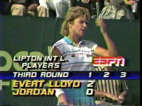 Chris Evert d. Kathy Jordan 1986 Lipton Boca Raton Part 1