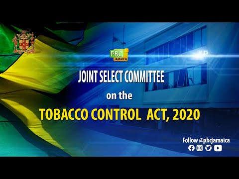 Joint Select Committee on The Tobacco Control Act, 2020 - April 29, 2021