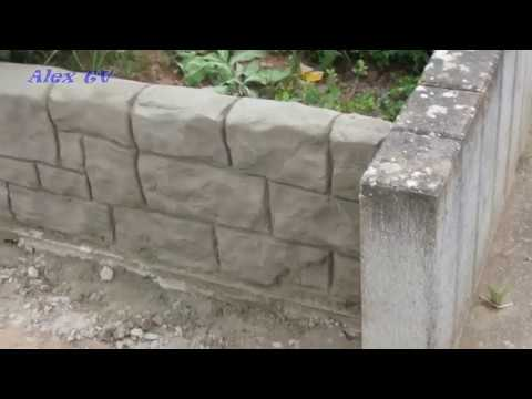 mauer aus beton im garten youtube. Black Bedroom Furniture Sets. Home Design Ideas