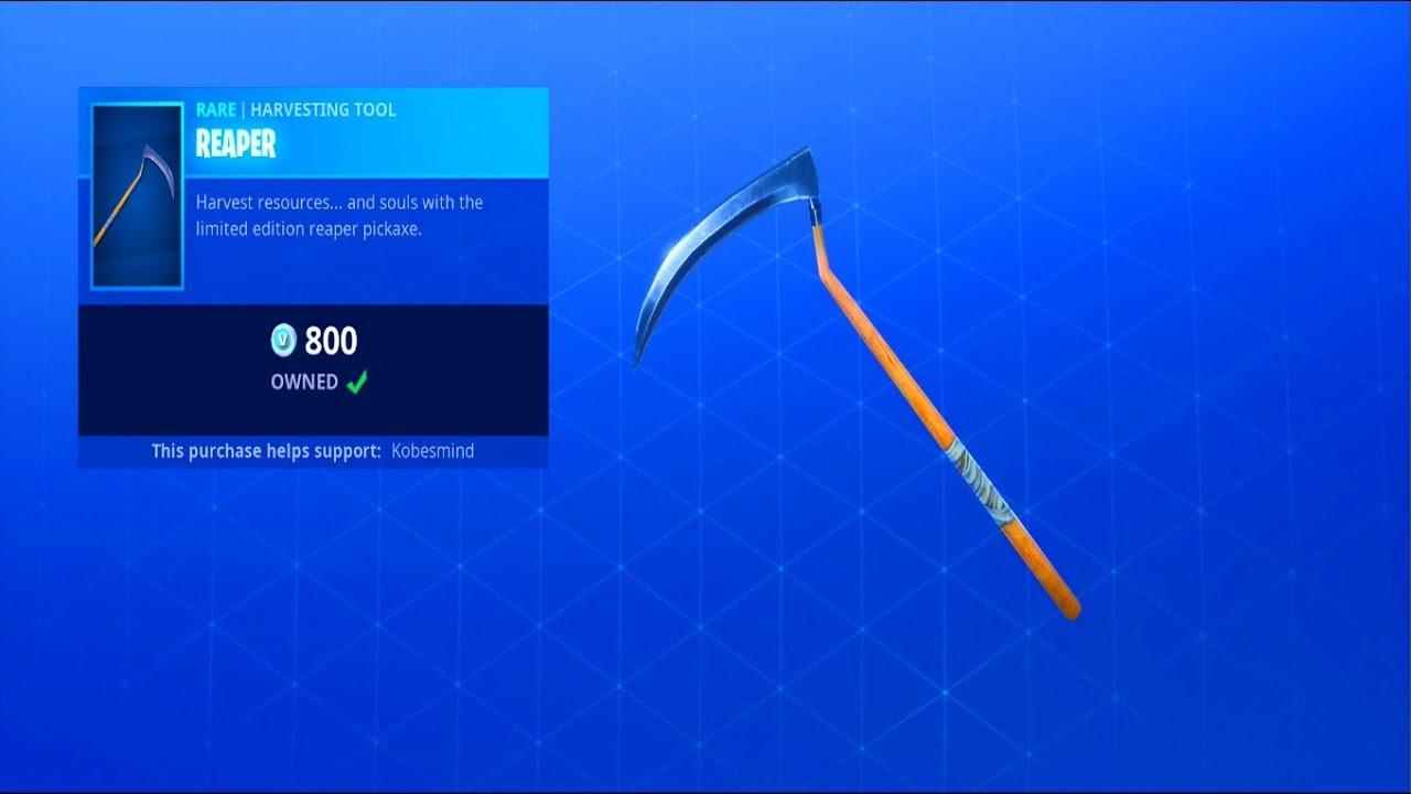 Fortnite item shop october 25 the reaper pickaxe is back youtube - Fortnite reaper ...
