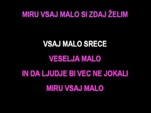 Karaoke - Irena Tratnik - Malo Miru