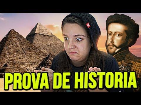 FIZ A PROVA DE HISTÓRIA DA QUINTA SÉRIE!