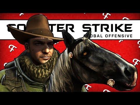 CSGO: Western Adventure Map, Saloon Bar Fight, Cowboy Showdown (Counter Strike GO - Comedy Gaming)