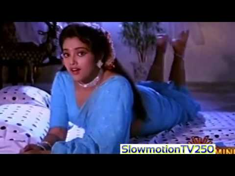 beautiful actress Meena Sexy danm hot Ass in Blue Saree on Bed hot