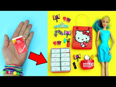 10 AMAZING  BARBIE HACKS #14- Easy doll crafts in 5 minutes or less