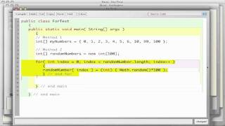 Java Arrays for loops and random numbers