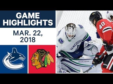 NHL Game Highlights   Canucks vs. Blackhawks - Mar. 22, 2018