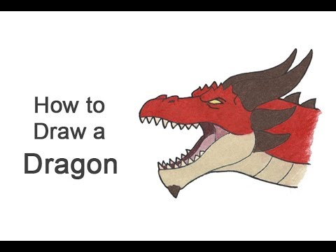 How to Draw a Dragon Head (Cartoon)