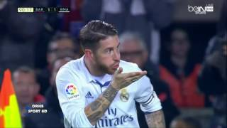 SERGIO RAMOS GOAL REAL MADRID VS BARCELONA  Arabic Commentators  90 minutes