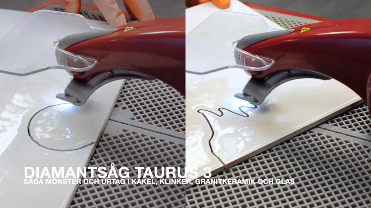 DiamantsÃ¥g Taurus 3 - YouTube : sätta klinker : Inredning