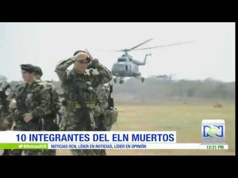Bombardeo contra el ELN deja 10 guerrilleros muertos y 3 capturados en Antioquia