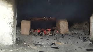 Как жарить шашлык в русской печке