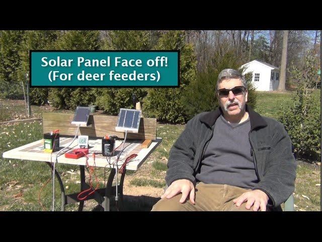 6v Solar Panels Test Review For Deer Feeders Youtube