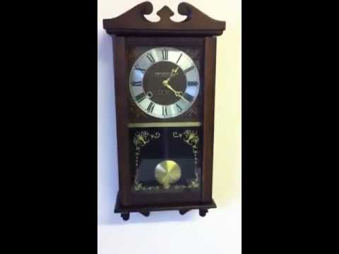 31 Day President Wind Up Chime Wall Clock Vintage Youtube