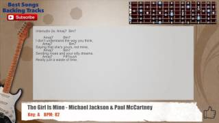 The Girl Is Mine - Michael Jackson & Paul McCartney Guitar Backing Track with chords and lyrics