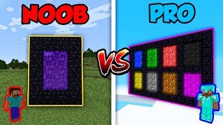 Minecraft NOOB vs. PRO: 8 PORTALS! | AVM Shorts Animation