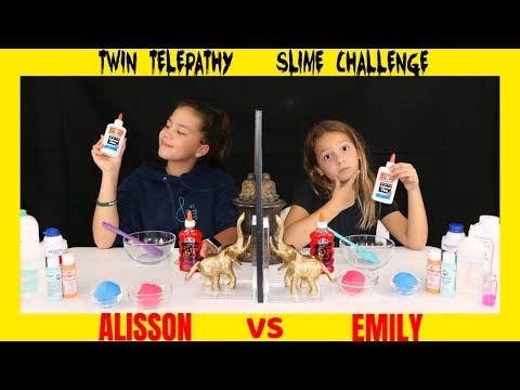 TWIN TELEPATHY SLIME CHALLENGE/ SIS VS SIS | SISTER FOREVER