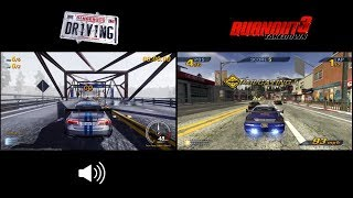 Dangerous Driving vs Burnout 3: Takedown - Gameplay Comparison