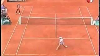 [HL] Justine Henin vs. Serena Williams 2003 Roland Garros [SF] [1/2]