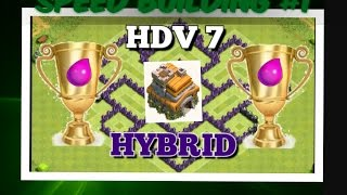 [CLASH OF CLANS] Speed Building#1 village hdv 7 Hybrid