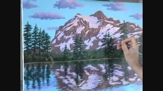 Видео 5 части 19, как рисовать горы и озеро с акрилом(Как рисовать горы и озеро с акрилом на холсте. В этом видео я объяснить каждый шаг живопись процесс скалы,..., 2011-08-31T03:22:00.000Z)