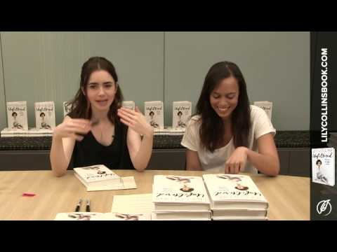 Lily Collins Book Signing &