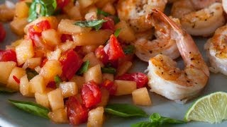 Grilled Shrimp With Cantaloupe Lime Salsa Recipe