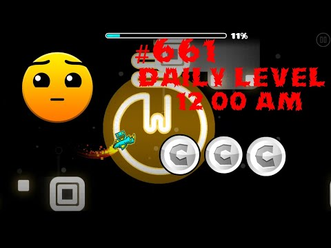 DAILY LEVEL #661 Geometry Dash 2.11 el nivel 12 00 am