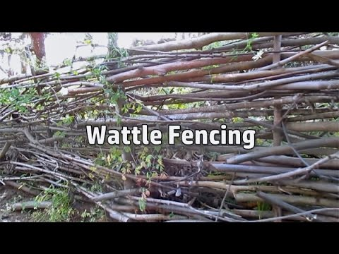 GrowBuild A Free Fence DIY Woven Branch Design Wattle Fence