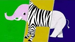Baby Play ANIMAL MATCH UP - Learn Animal Names Combined Real Animals - Fun Kids Games