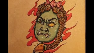 How to Draw a Fudo Myoo