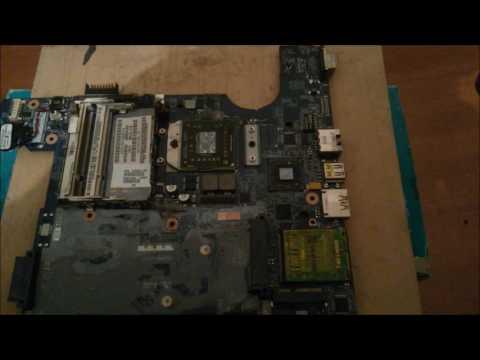 Notebook Compaq CQ40 no arranca - reparar falla video