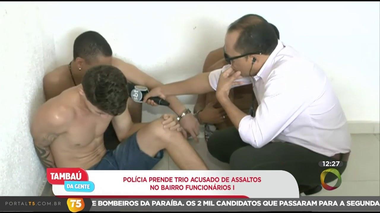 Tambaú da Gente - Polícia prende trio acusado de assaltos no bairro Funcionários I