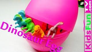 Bóc trứng  bất ngờ! Nhận bộ sưu tập khủng long cho bé! Kinder Dinosours Surprise Eggs!