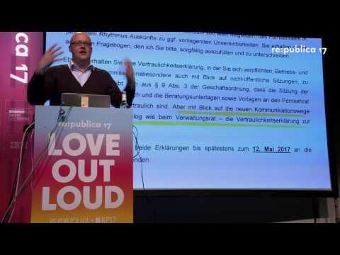 re:publica 2017 - Leonhard Dobusch: Für das Internet im ZDF Fernsehrat