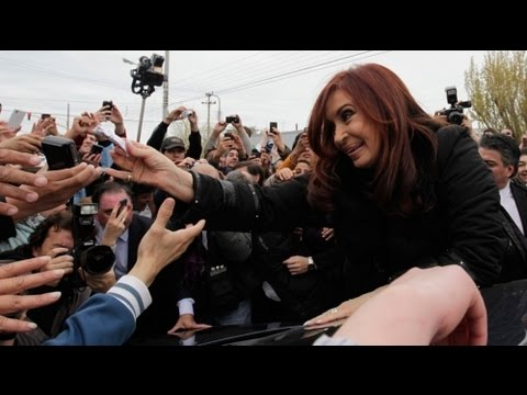 Argentina's President Fernandez wins landslide poll