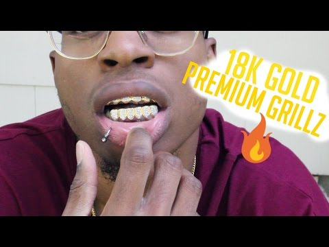 Custom Gold Grillz: 18k Gold CZ Premium Grillz (Review)