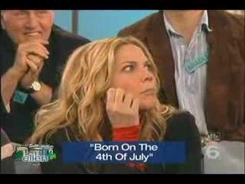 Kristin on West Wing Ellen Special