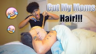 I Cut My Moms Hair! Her Hair Started Falling Out!