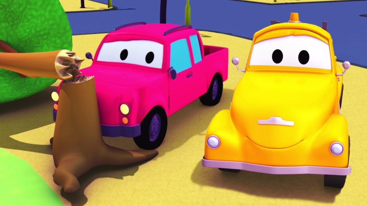 Эвакуатор Том и Пикап в Автомобильный Город | Мультфильм для детей