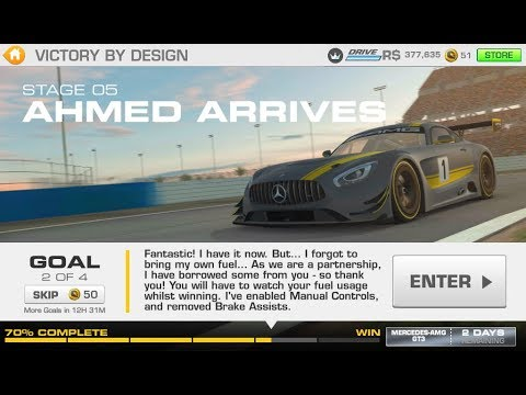 REAL RACING 3–FLASHBACK EVENTS–VICTORY BY DESIGN–STAGE 5.2(AHMED ARRIVES)–Cup