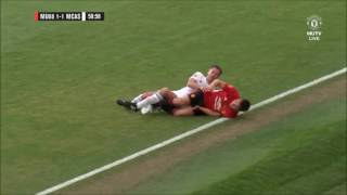 Jamie Carragher's Tackle on Gary Neville..The pundits take their battle back on the pitch