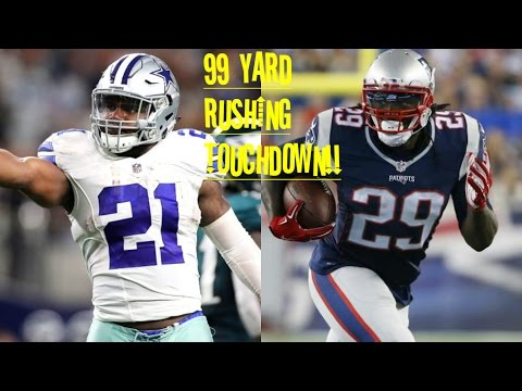 WHO CAN GET A 99YD RUSHING TOUCHDOWN FIRST?!? EZEKIEL ELLIOTT VS LEGARRETTE BLOUNT!!!