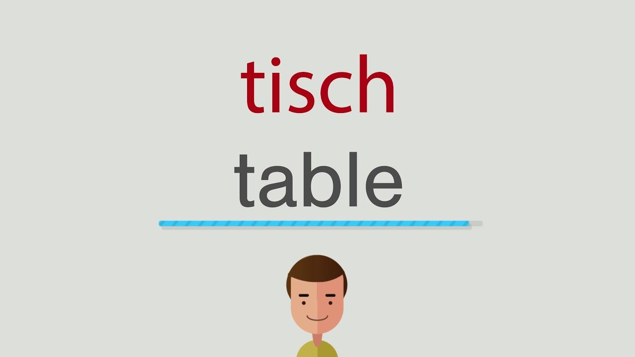 Wie Heißt Tisch Auf Englisch Youtube