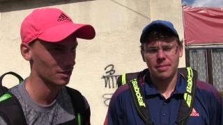 Marek Gengel a Matěj Vocel po výhře v 1. kole čtyřhry na turnaji Futures v Ústí n. O.